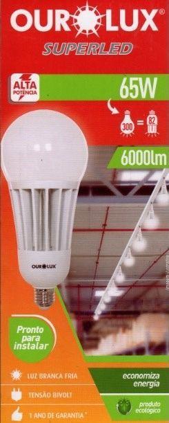 Lampada Ourolux Super Led 65W Bivolt