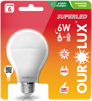 Lampada Ourolux Super Led .6W Bivolt