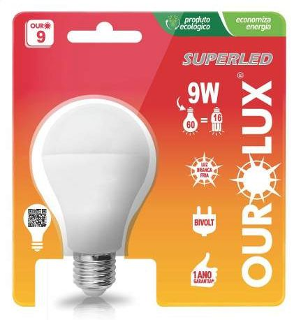 Lampada Ourolux Super Led .9W Bivolt