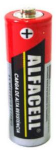 Pilha Alfacell Comum .Pequena AA 1,5V (un)