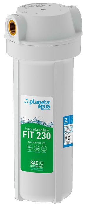 "Purificador de Agua Fit 230 Branco 9.3/4"" com Refil PA 230 Rosca 3/4"