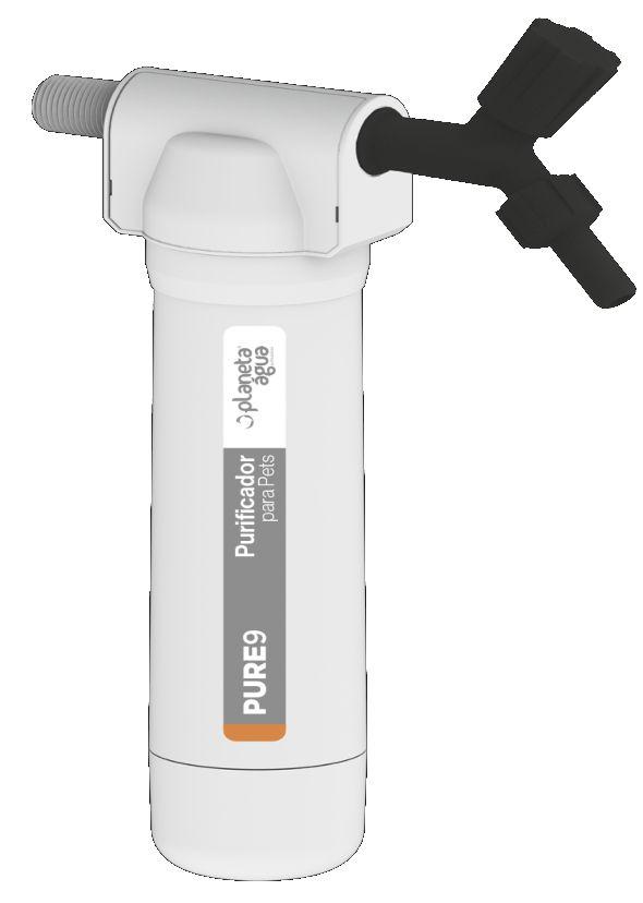 Purificador de Água Pure9 para Pets com Refil Rosca 1/2 e 3/4