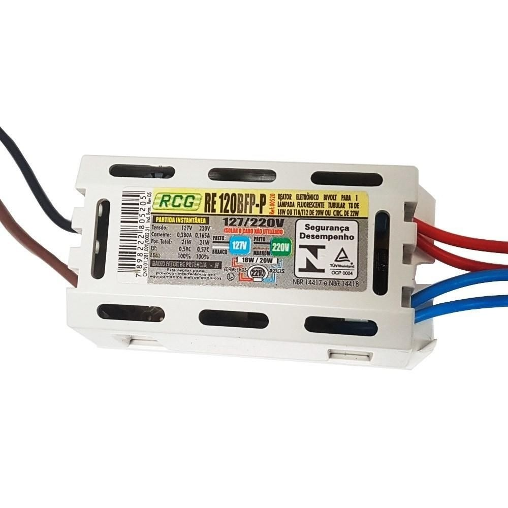 Reator RCG Eletronico 1 X 20W (kit com 10 unidades)