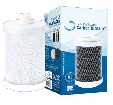 Refil Carbon Block 5 Pol. c/Rosca c/TNT