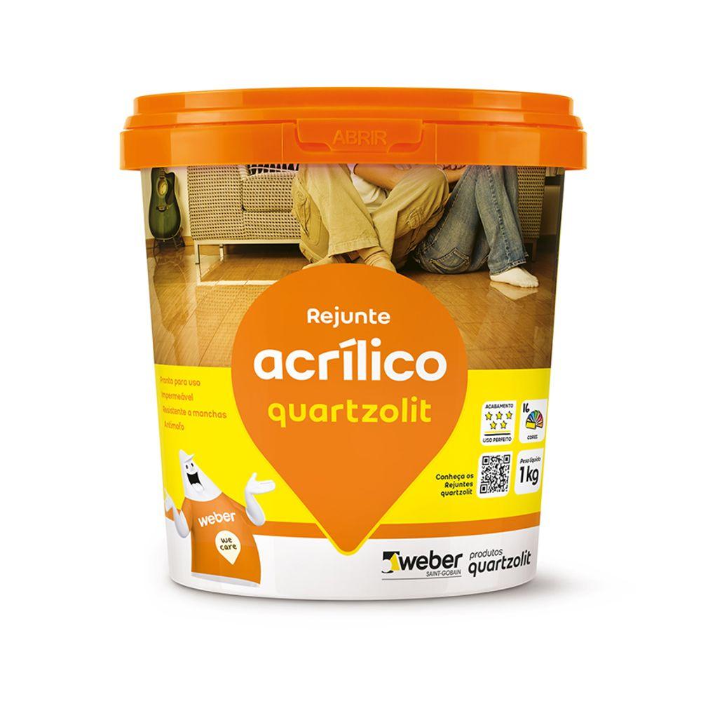Rejunte Quartzolit Acrilico 1Kg - Cinza Platina