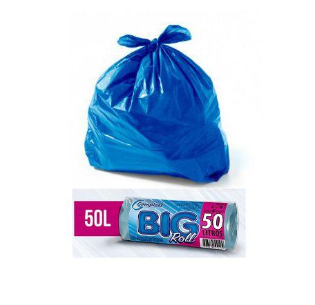 Saco Lixo Azul .50L Rolo 63 X 80 - 40 (un)