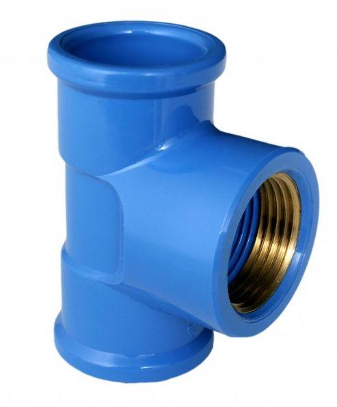 Te Soldavel Azul Bucha Latao PVC