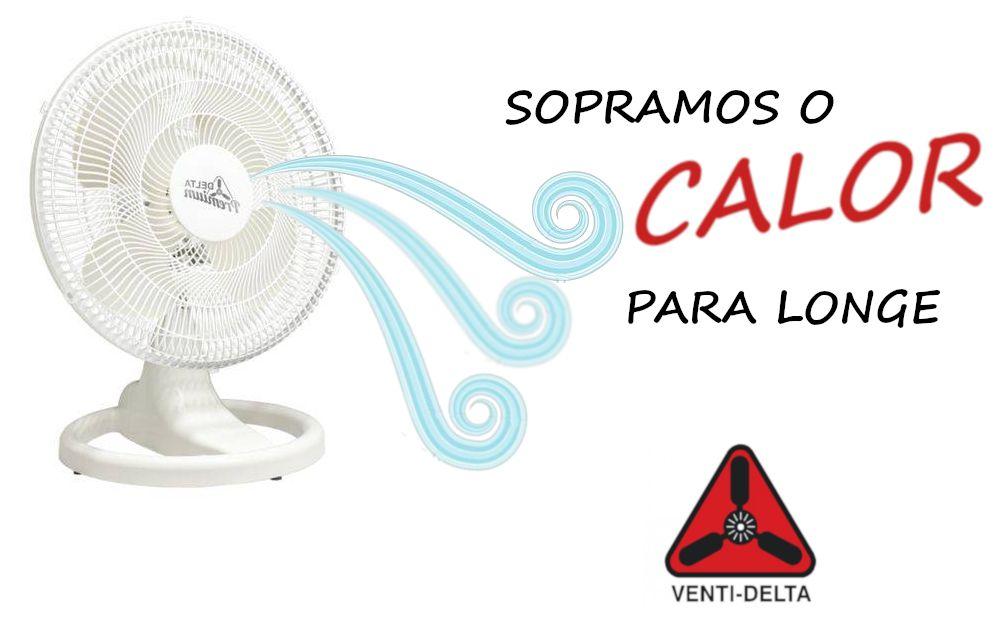 Ventilador Venti-Delta Mesa Premium Branco 50cm Bivolt