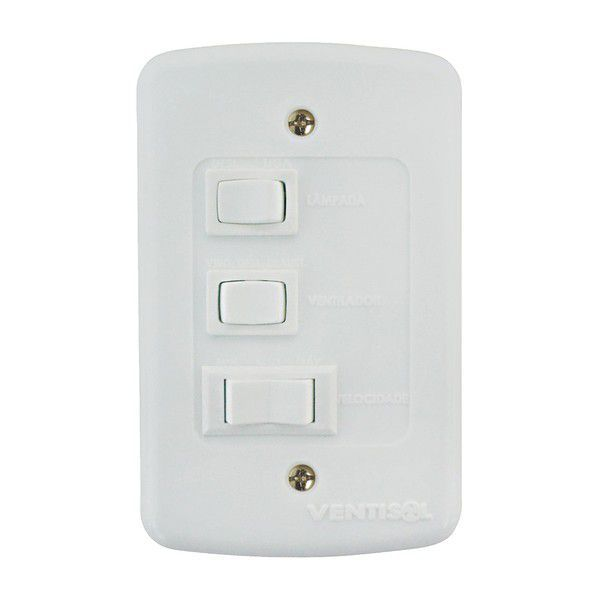 Ventilador Ventisol Teto Petit Branco 3 Pas - 127V