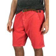 Bermuda BioTwo de Sarja Color - Vermelha