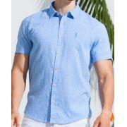 Camisa Ankor de Linho - Azul