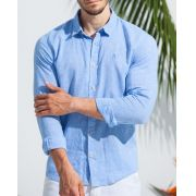 Camisa Ankor de Linho ML - Azul