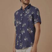 Camisa Foxton de Linho Brassavola Azul