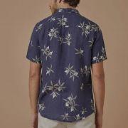 Camisa Foxton de Linho Brassavola - Azul