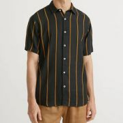 Camisa Foxton MC Listra Frontal Visco Rustica