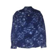Camisa Foxton ML de Linho Florest - Azul