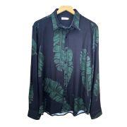 Camisa Foxton ML Folhagens Palms - Preta