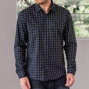 Camisa Von Der Volke Xadrez ML Perth Preto