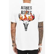 T-shirt Toro Ashes To Ashes - Branca