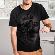 T-shirt Von Der Volke Dupla Face Lion Corrosie Preto