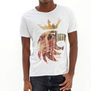 T-shirt Von Der Volke Logo Leão - Branca