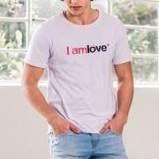 T-shirt Von Der Volke Unissex I Am Love Branco