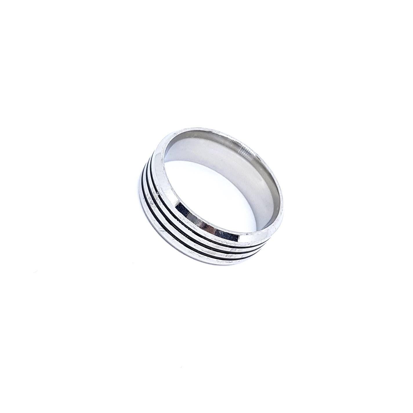 Anel Black Circles Steel
