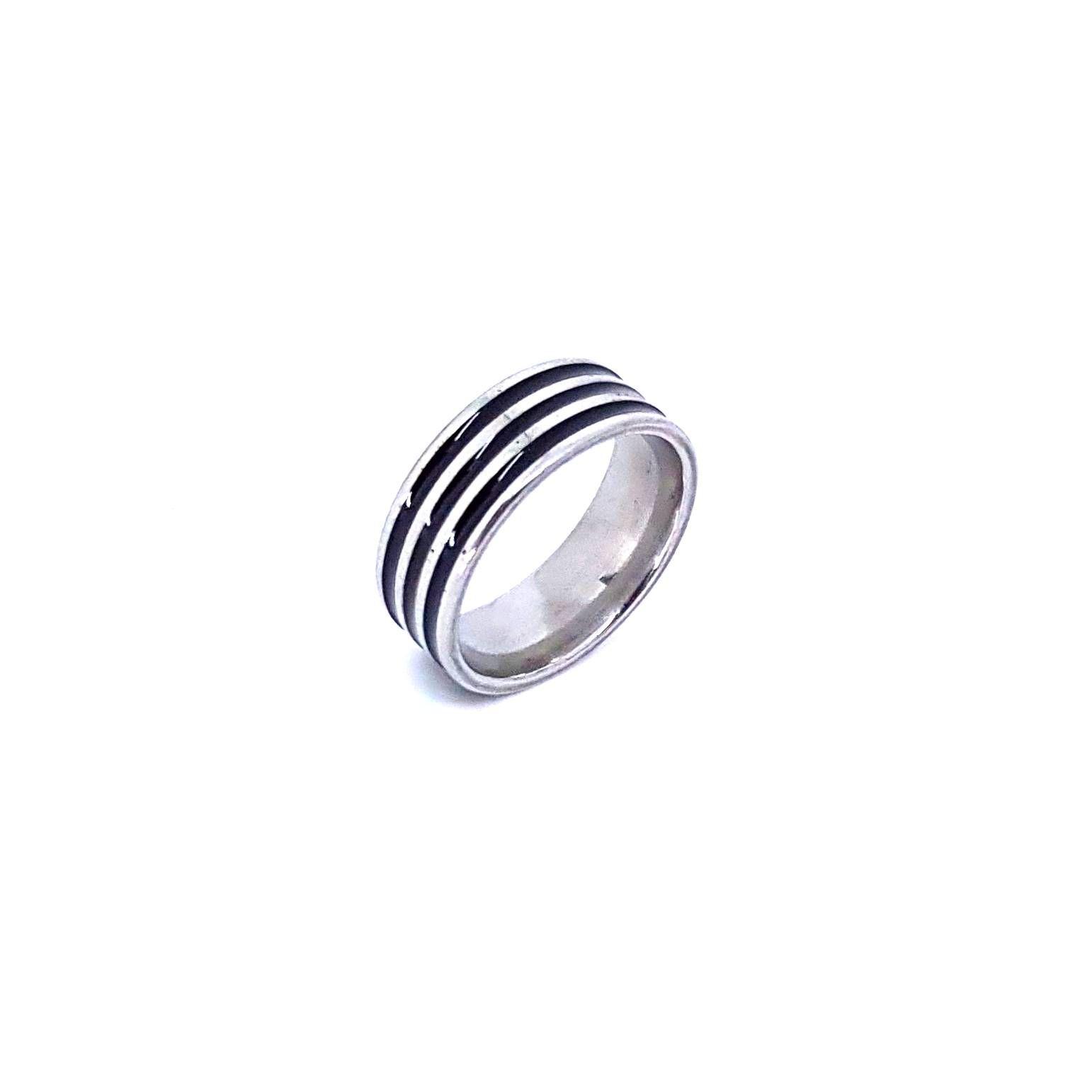Anel Black Stripe 2