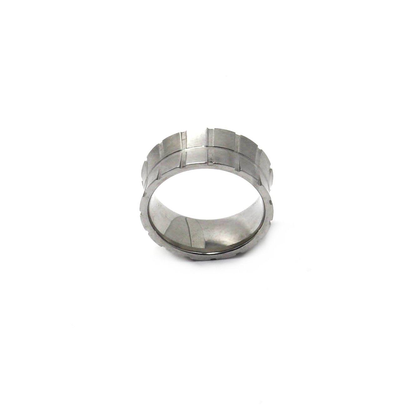 Anel de Aço Inox Stripe