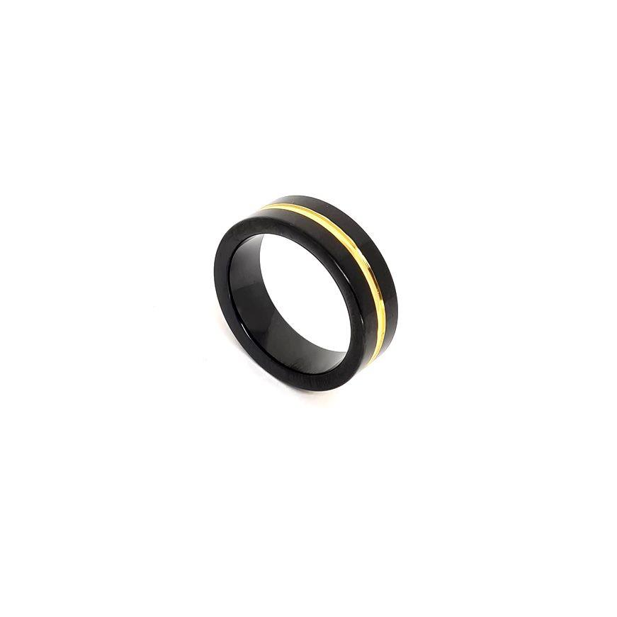 Anel Emporio Top Gold Aço Inox Line