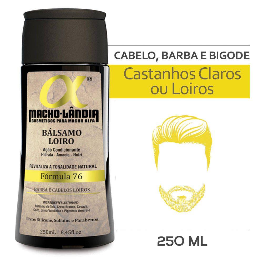Balsamo Macho Lândia Formula 76 - Barba e Cabelos Loiros