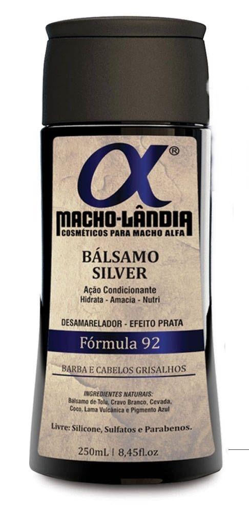 Balsamo Macho Lândia Formula 92 - Barba e Cabelos Grisalhos
