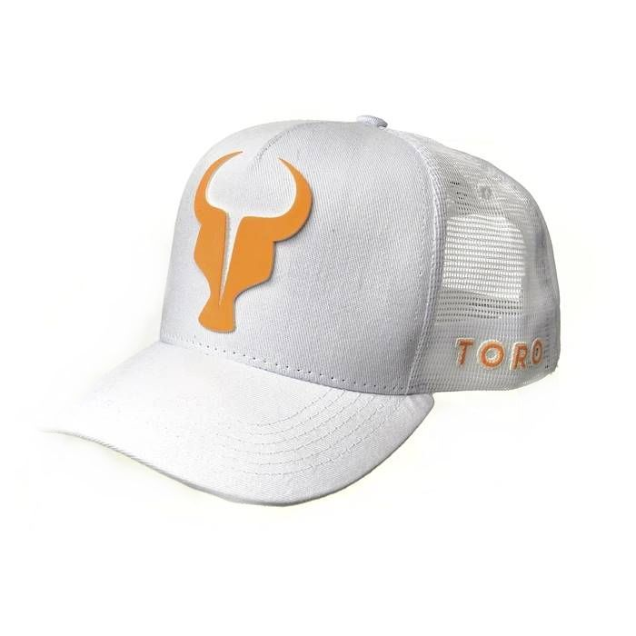 Boné Trucker Toro Branco e Orange