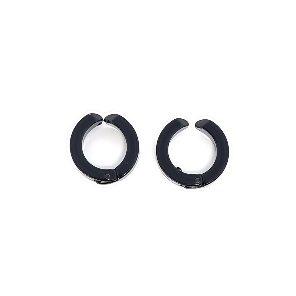 Brinco Aço Inox Ring Bold Black Series