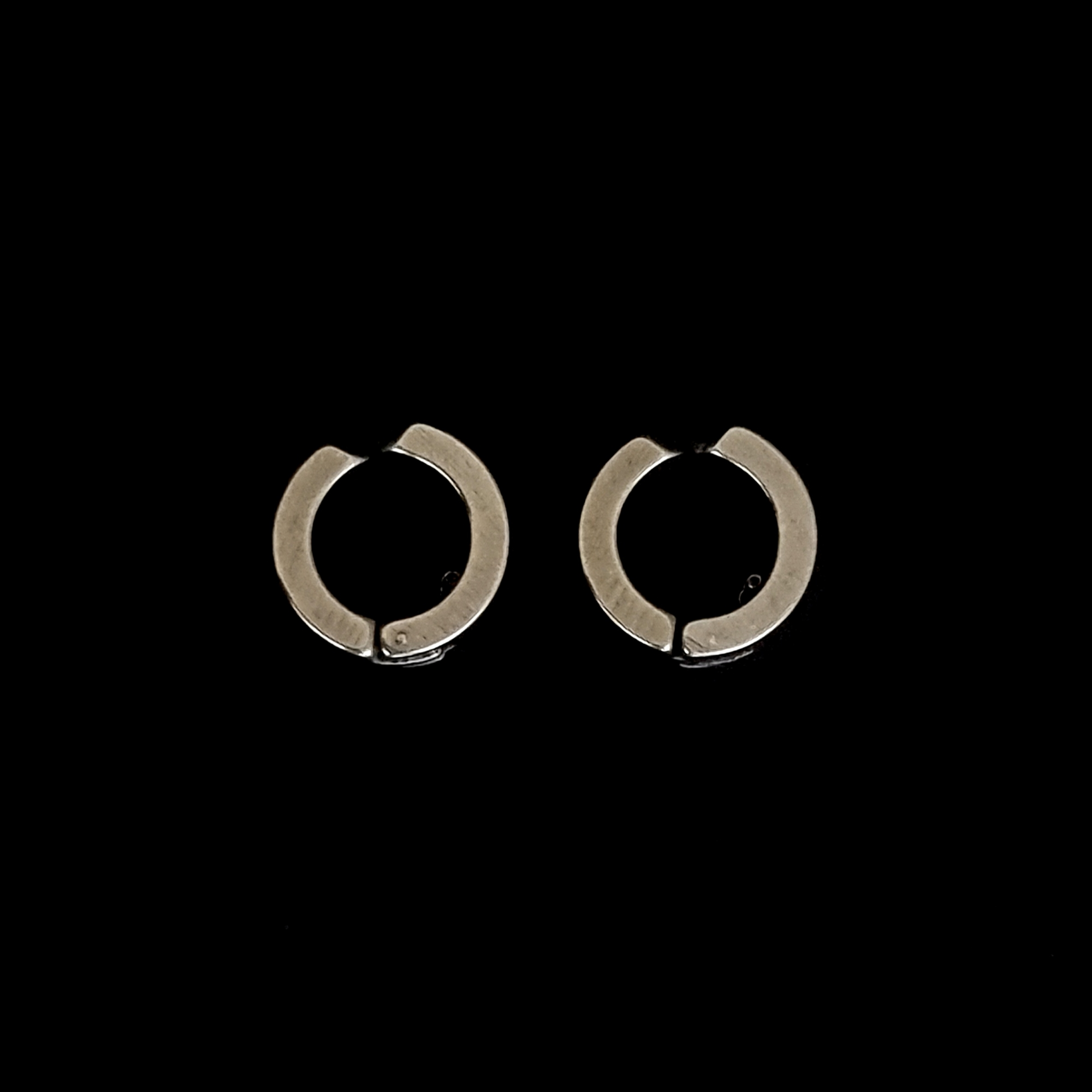 Brinco Masculino Aço Inox Ring One Prata