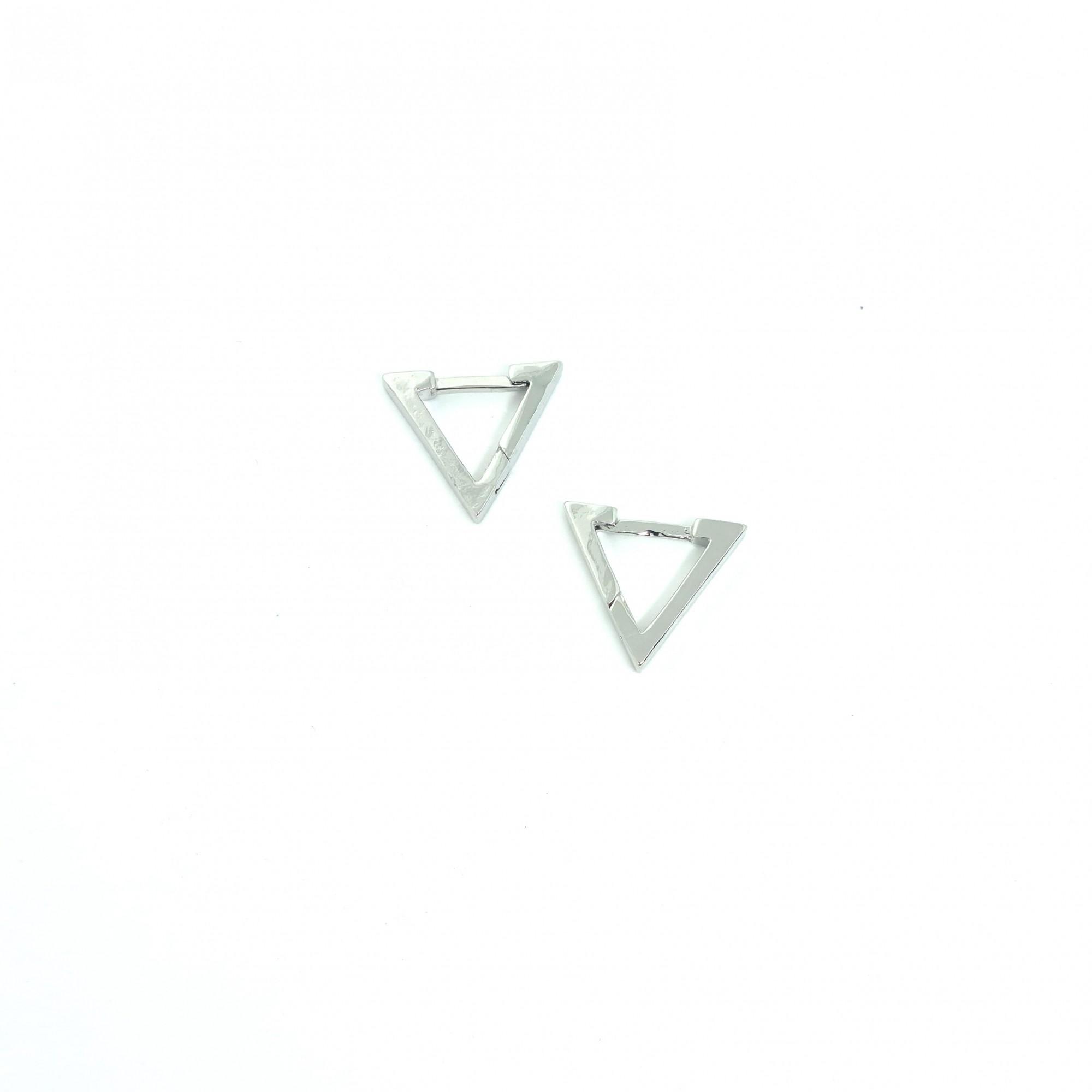Brinco Masculino Aço Inox Triangulo