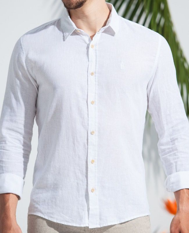 Camisa Ankor de Linho ML - Branca