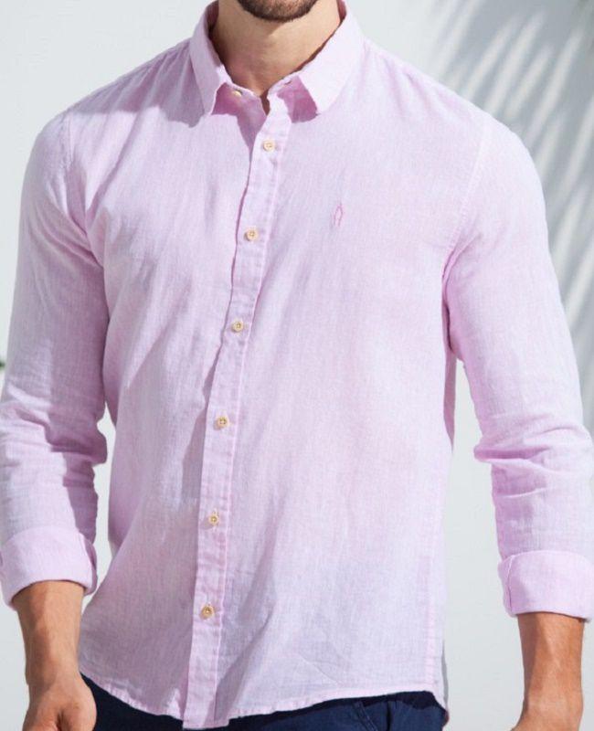 Camisa Ankor de Linho ML - Rosa