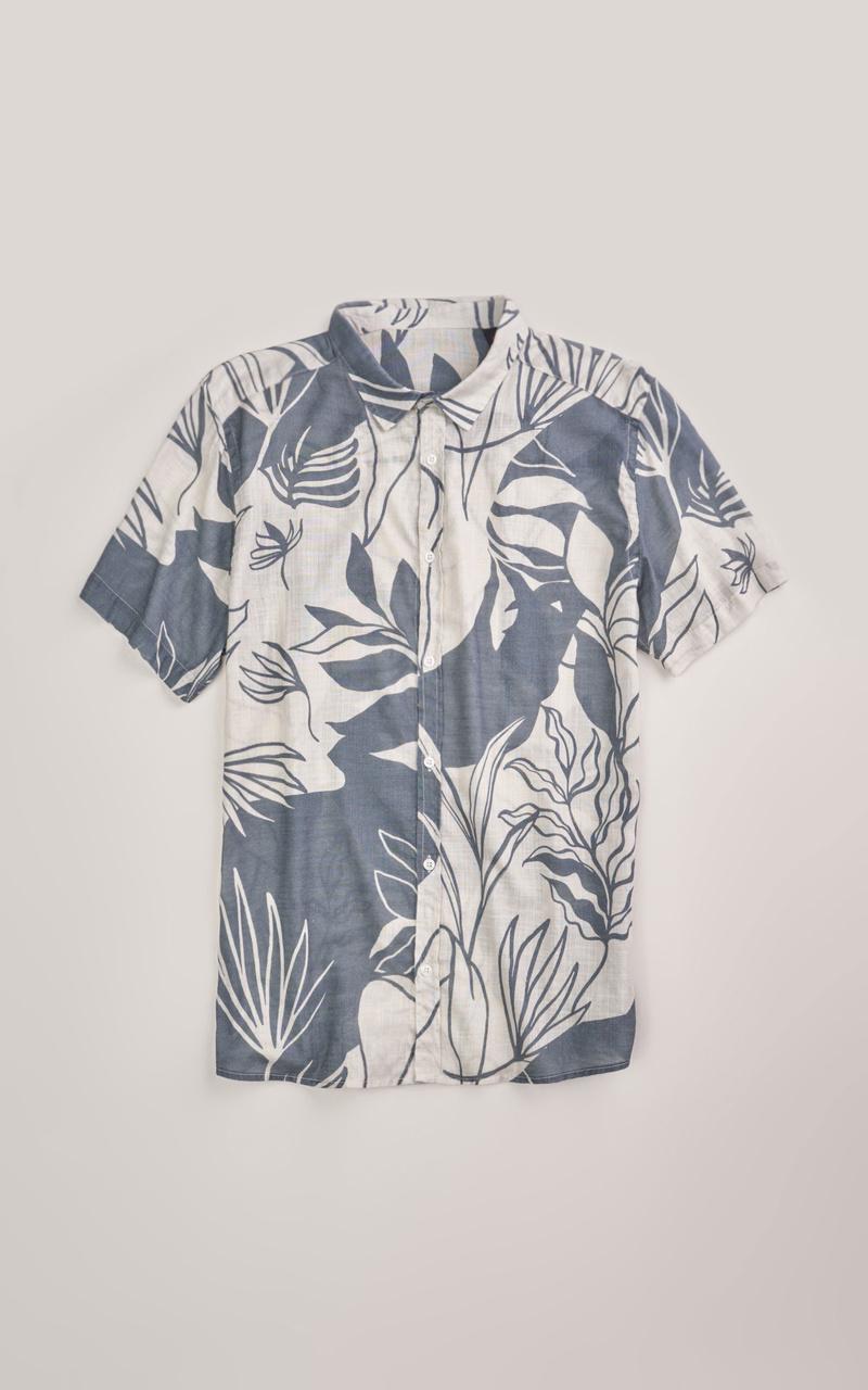 Camisa Foxton Hame Botanica - Azul
