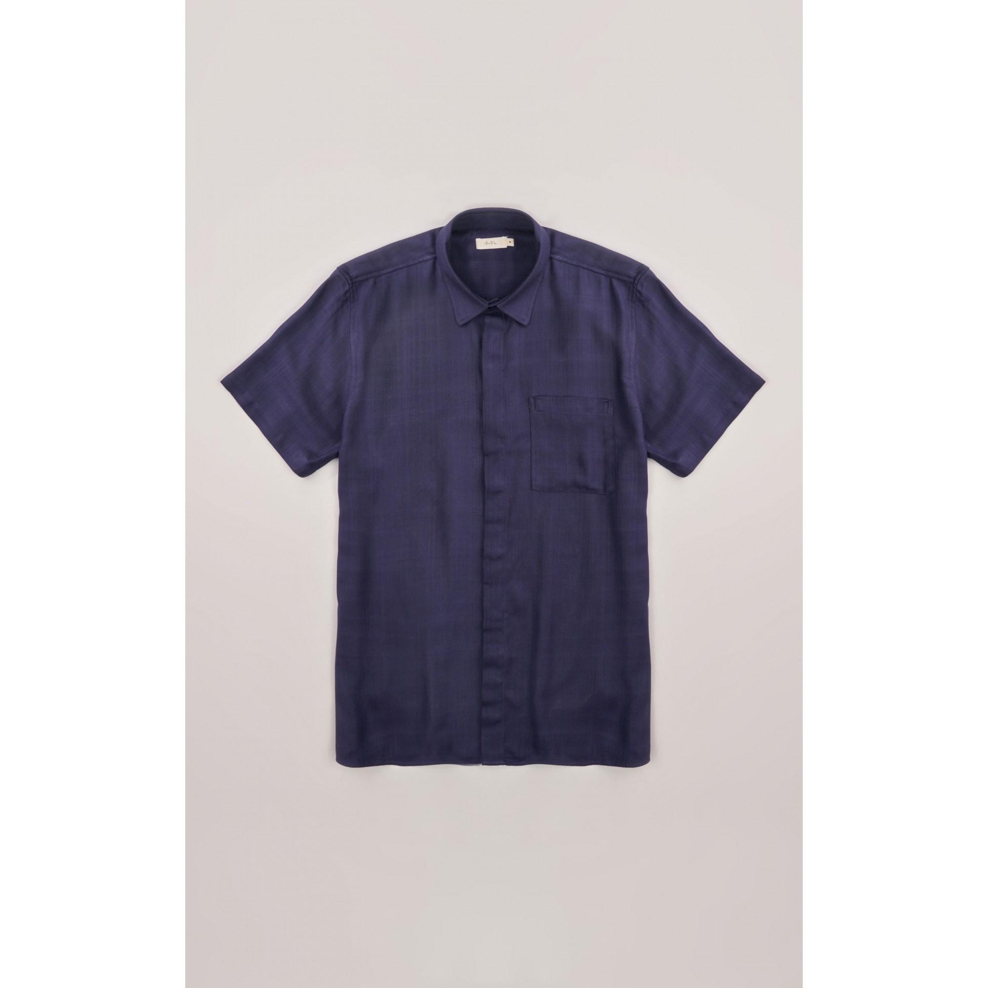 Camisa Foxton MC  Visco Rustica Azul