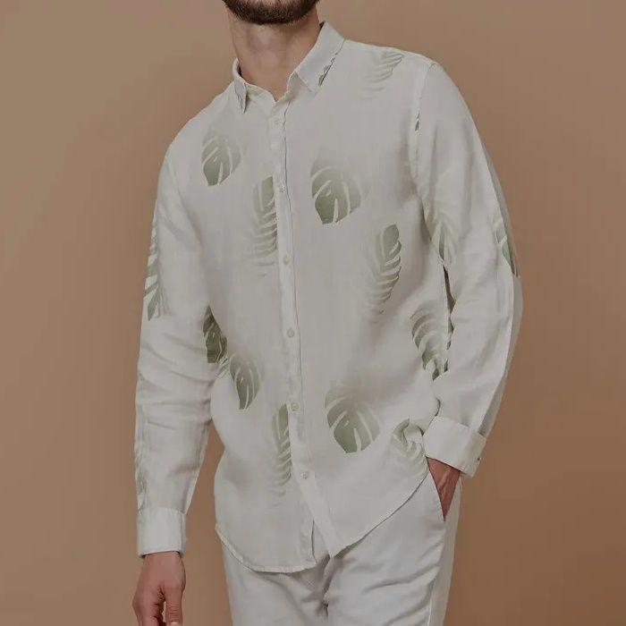 Camisa Foxton ML de Linho Brisa - Branca