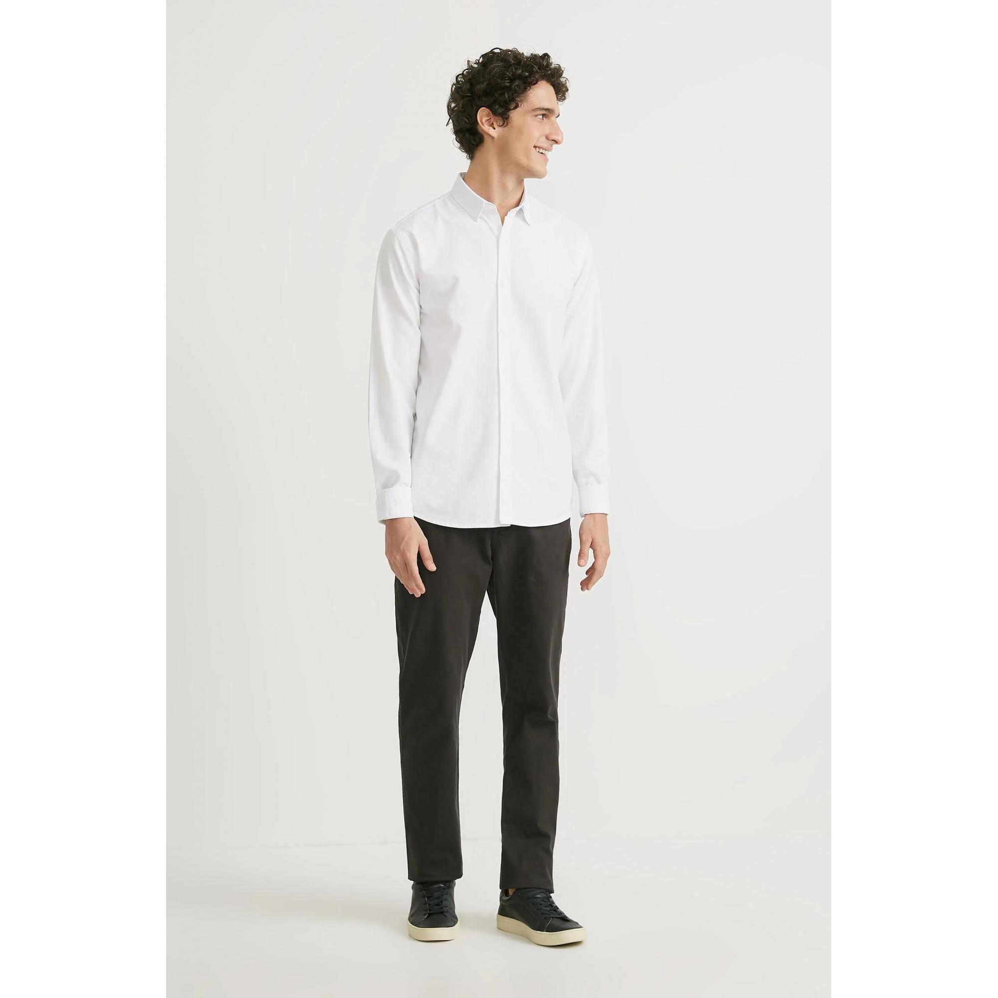 Camisa Foxton ML Oxford Verão - Branco