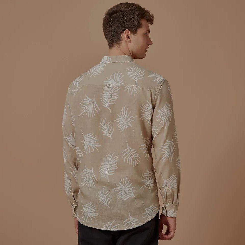 Camisa Foxton ML Power Palms - Areia
