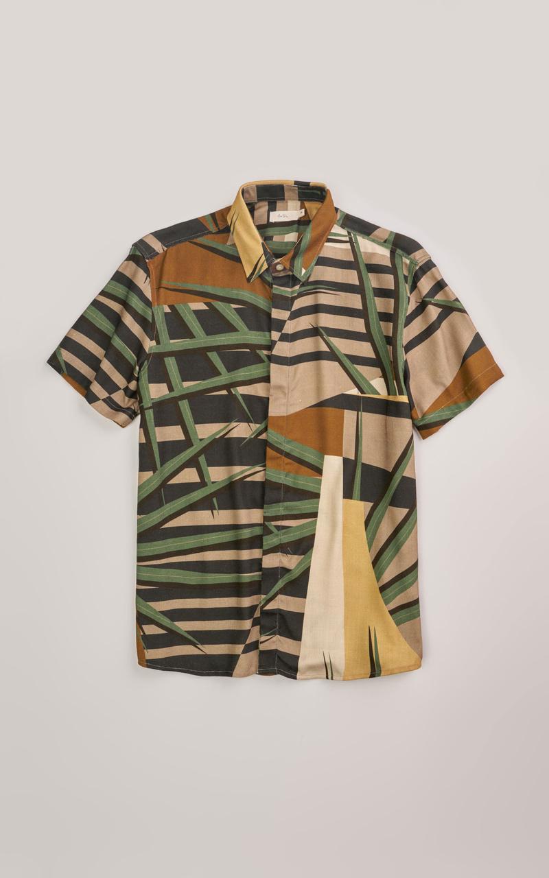 Camisa Foxton Visco Rustico - Multicolorido