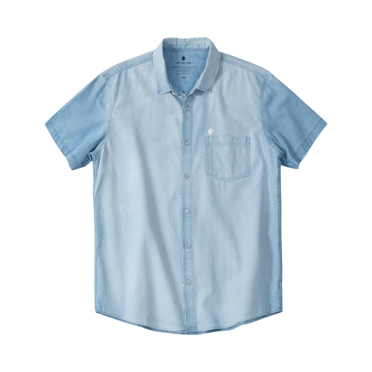 Camisa MC Von Der Volke Jeans - Light Denin