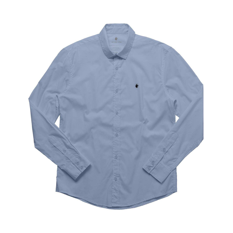 Camisa Von Der Volke Social ML Basis - Azul Claro