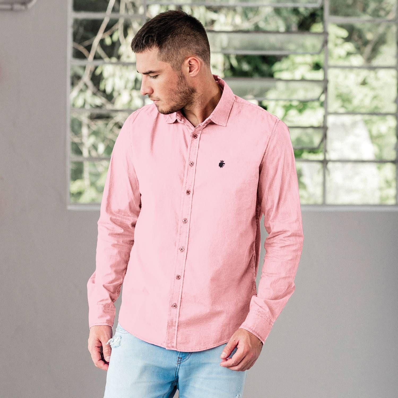 Camisa Von Der Volke Social ML Basics Rosa