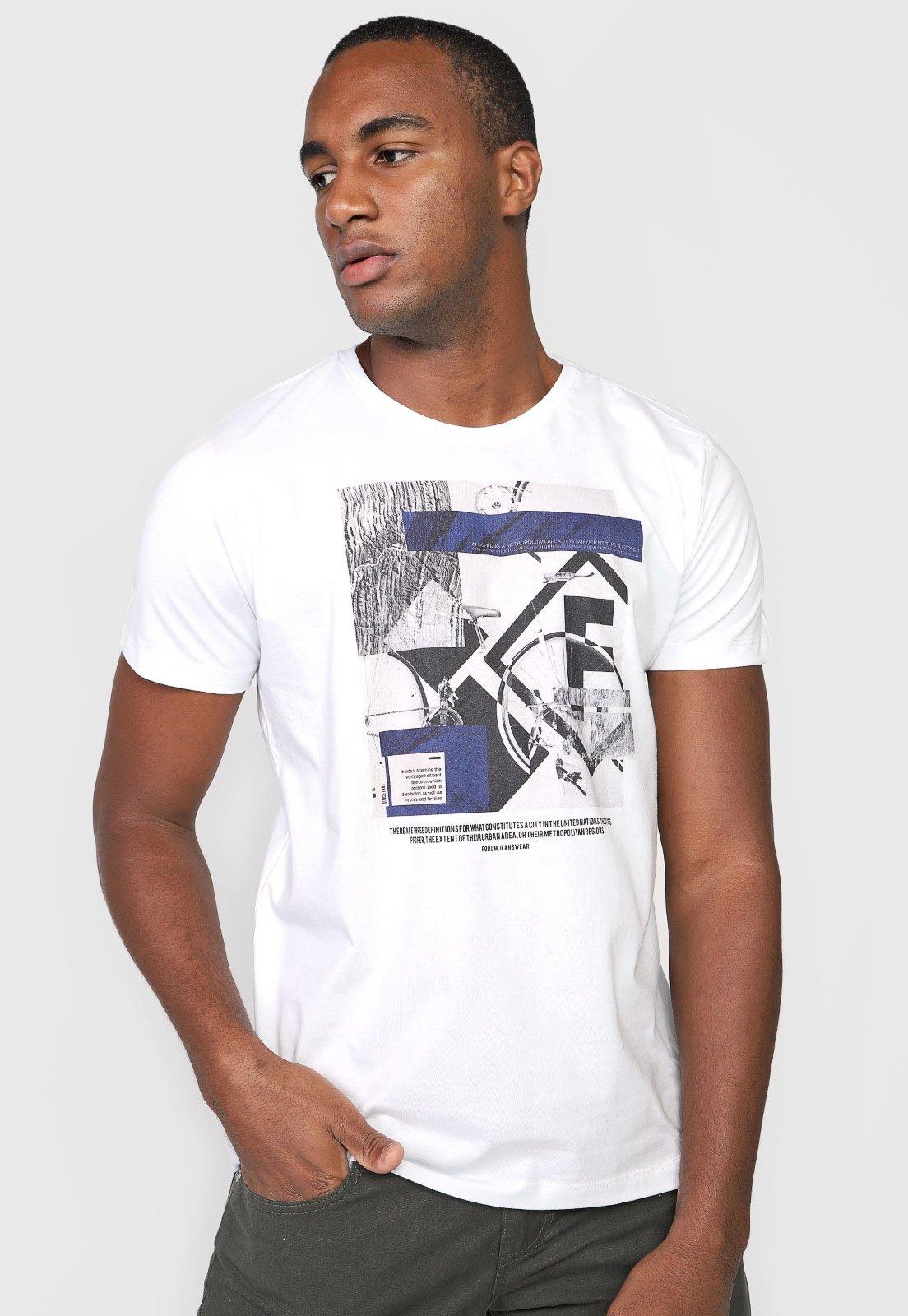 Camiseta Forum Bicycle - Branca