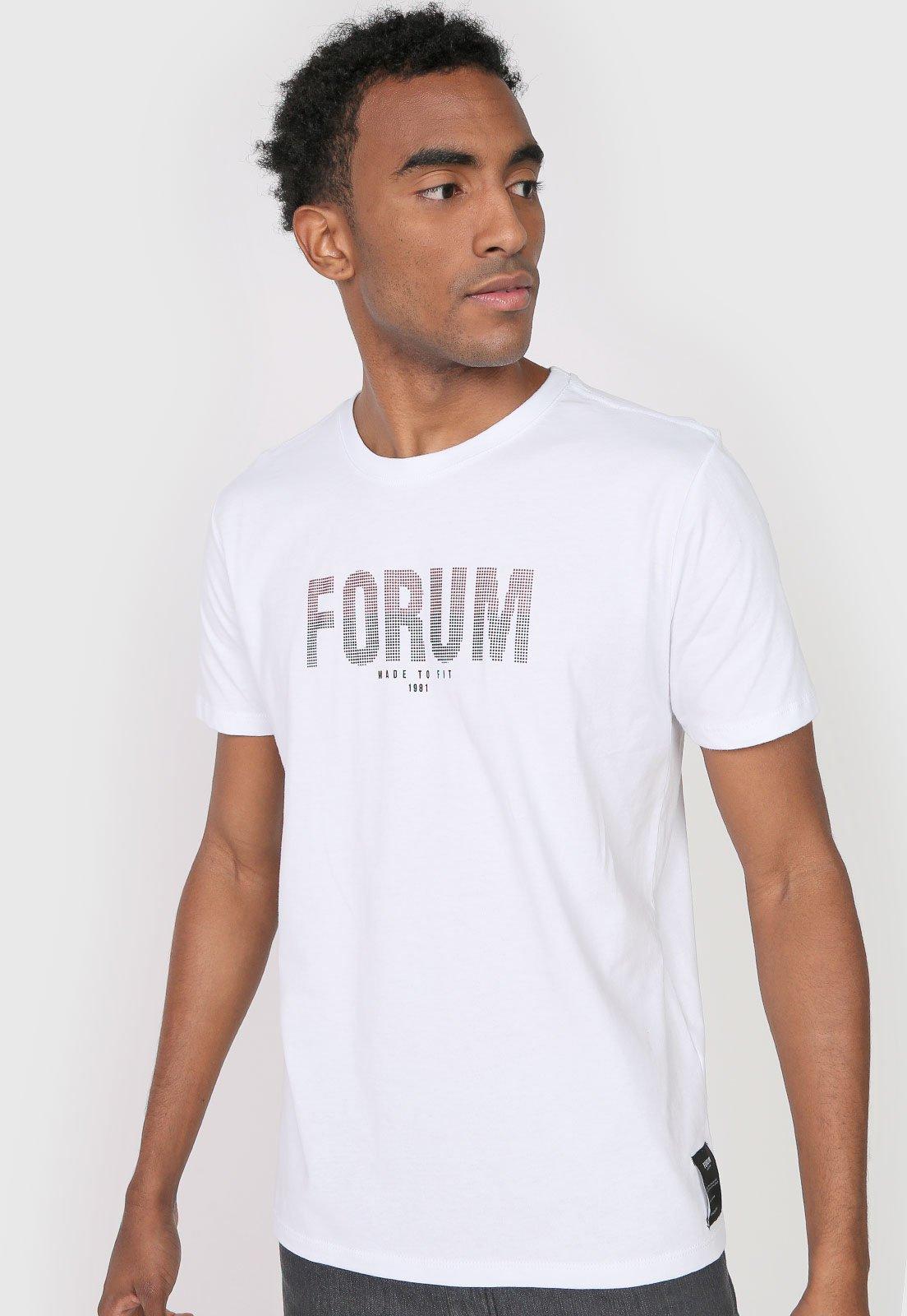 Camiseta Forum Lettering - Branca