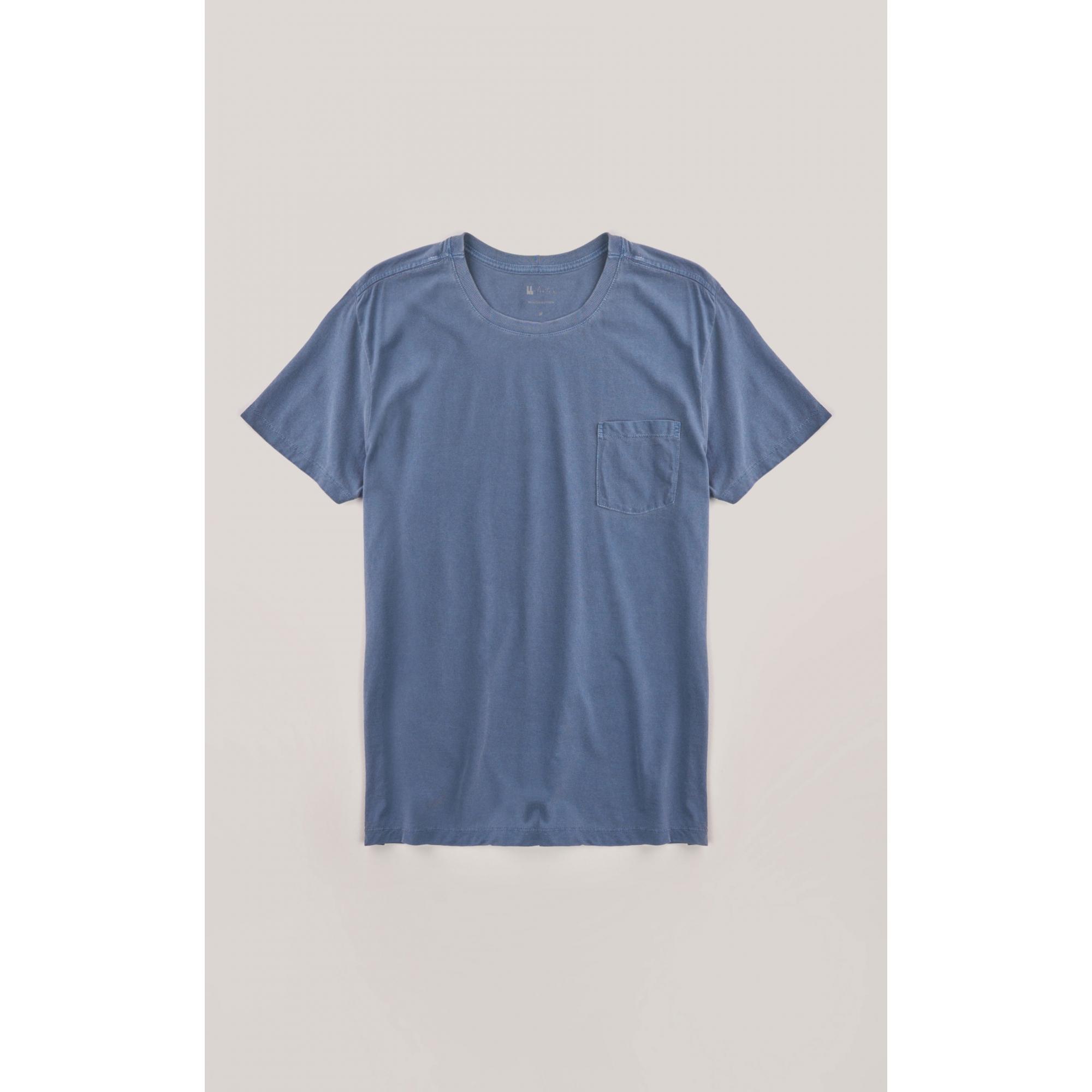 Camiseta Foxton Bolso Pinca - AZul